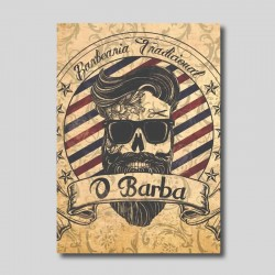 Placa decorativa Barbearia...